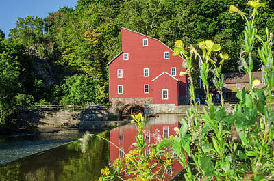 Photograph - The Old Red Mill - Clinton New Jersey by Bill Cannon