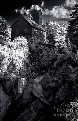 Photograph - The Old Red Mill - Infrared by James Aiken