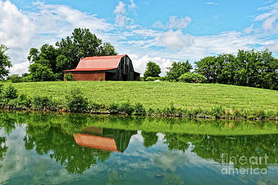 Photograph - The Old Red Roofed Barn by Paul Mashburn