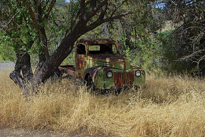 Photograph - The Old Retired Truck by Richard J Cassato