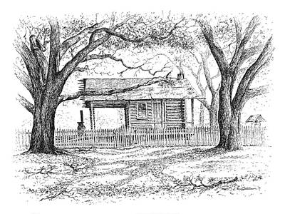 Drawing - The Old Richardson Place by Randy Welborn