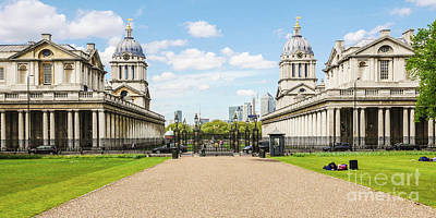Royal Naval College Photograph - The Old Royal Naval College Greenwich England by Lexa Harpell
