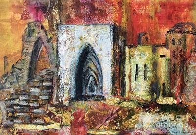 Ruins Mixed Media - The Old Ruins by Peggie Koroncey