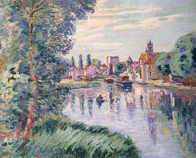 Tree Leaf On Water Painting - The Old Samois by Jean Baptiste Armand Guillaumin