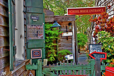 Photograph - The Old School House Entrance Saint Augustine Florida by Gina O'Brien