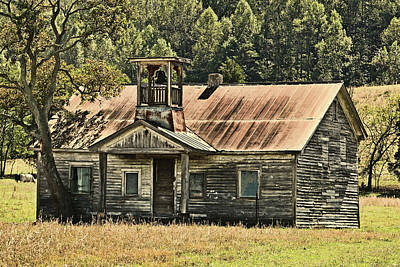 Photograph - The Old School House by TnBackroadsPhotos