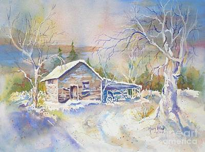 Art Print featuring the painting The Old Shed by Mary Haley-Rocks