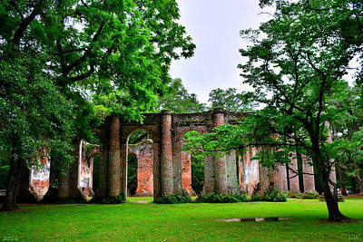 Photograph - The Old Sheldon Church Ruins 2 by Lisa Wooten
