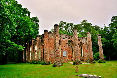 Photograph - The Old Sheldon Church Ruins 3 by Lisa Wooten