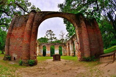 Photograph - The Old Sheldon Church Ruins 5 by Lisa Wooten