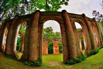Photograph - The Old Sheldon Church Ruins 6 by Lisa Wooten