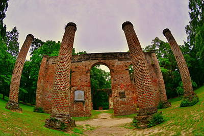 Photograph - The Old Sheldon Church Ruins 7 by Lisa Wooten