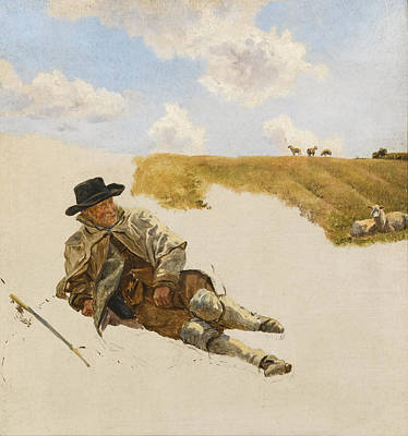Painting - The Old Shepherd by Henry William Banks Davis