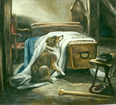 The Old Shepherd's Chief Mourner After Sir Edwin Landseer Original