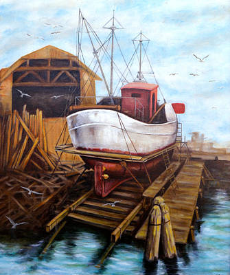 Painting - The Old Ship by Tony Banos