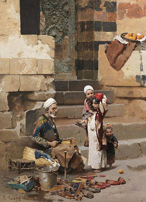 Painting - The Old Shoe Maker, Cairo by Raphael von Ambros