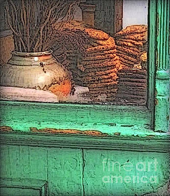 Photograph - The Old Shop Window - Soho Bread Shop by Miriam Danar