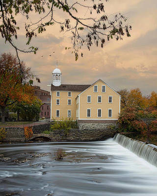 The Old Slater Mill Art Print by Robin-Lee Vieira