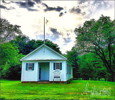 Photograph - The Old South End Schoolhouse In Southington, Ct by MaryLee Parker