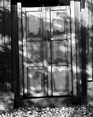 Photograph - The Old Spanish Door Bw by Tim Richards