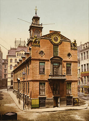 The Old State House, Boston Art Print by Everett