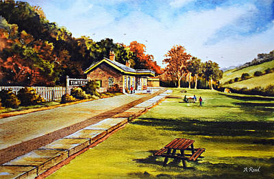Painting - The Old Station  by Andrew Read