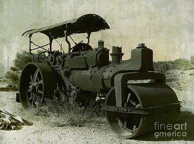 The Old Steam Roller Print by Christo Christov