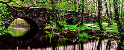 Sweden Digital Art - The Old Stone Bridge by Tommytechno Sweden