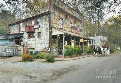 Southern Indiana Digital Art - The Old Story Inn 1851 Nashville Indiana - Original by Scott D Van Osdol