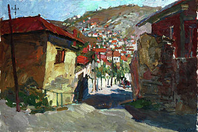 Painting - The Old Street by Juliya Zhukova