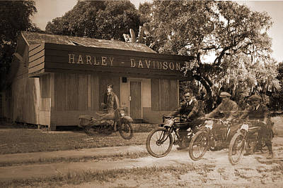 Digital Art - The Old Stuart Harley Shop by Richard Nickson