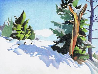 Drawing - The Old Stump, Elk Ridge by Dan Miller