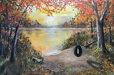 Painting - The Old Swing by Alan Lakin