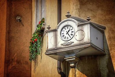 Architectural Detail Photograph - The Old Swiss Clock Geneva  by Carol Japp