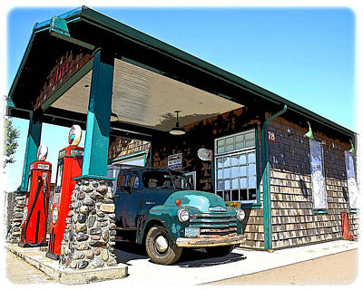 The Old Texaco Station Art Print