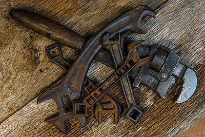 Photograph - The Old Timers Wrenches by Randy Walton