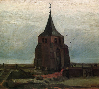 The Old Tower, 1884 Art Print by Vincent Van Gogh