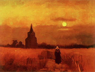 Painting - The Old Tower In The Fields by Vincent Van Gogh