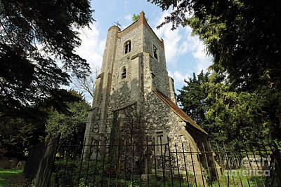 Photograph - The Old Tower St Marys Ewell by Julia Gavin