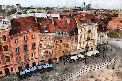 Photograph -  Old Town In Warsaw # 20 by Aleksander Rotner