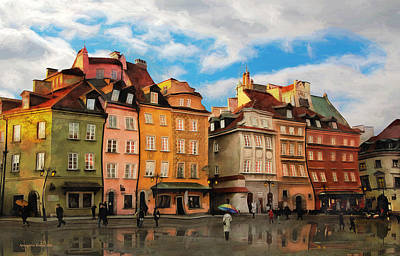 Photograph -  Old Town In Warsaw # 23 by Aleksander Rotner