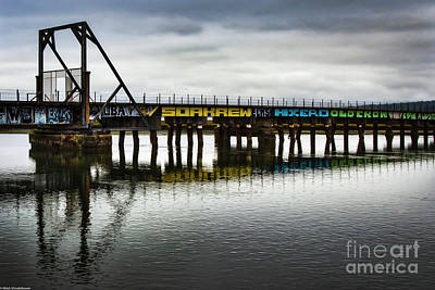 Photograph - The Old Train Bridge by Mitch Shindelbower