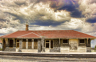 Train Photograph - The Old Train Stop by James BO  Insogna