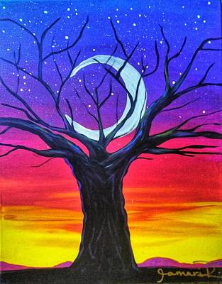 Sunset Painting - The Old Tree by Artist Jamari
