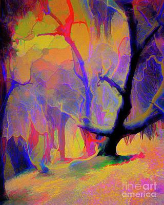 Digital Art - The Old Tree by Edmund Nagele