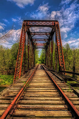 Photograph - The Old Trestle Classic Oil Painting by Debra and Dave Vanderlaan