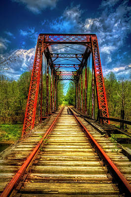 Photograph - The Old Trestle Colorful by Debra and Dave Vanderlaan