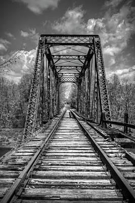 Photograph - The Old Trestle In Black And White by Debra and Dave Vanderlaan