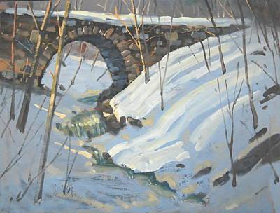The Old Trolley Bridge Original by Len Stomski