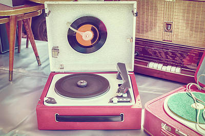 Classic Audio Player Photograph - The Old Turntable by Martin Bergsma